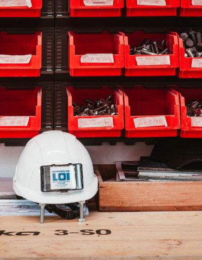 equipe casque entreprise loï maçonnerie charpente métallique